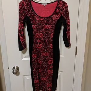 Stretchy red and black dress